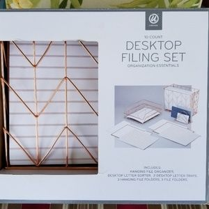 Other - 10 Piece Desk Top filing Set Office Organizer NIB